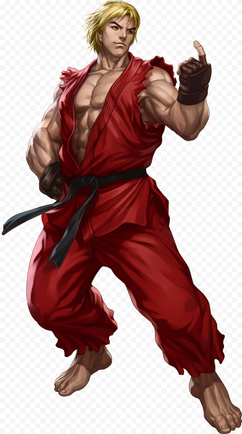 HD Ken Masters Street Fighter Character PNG