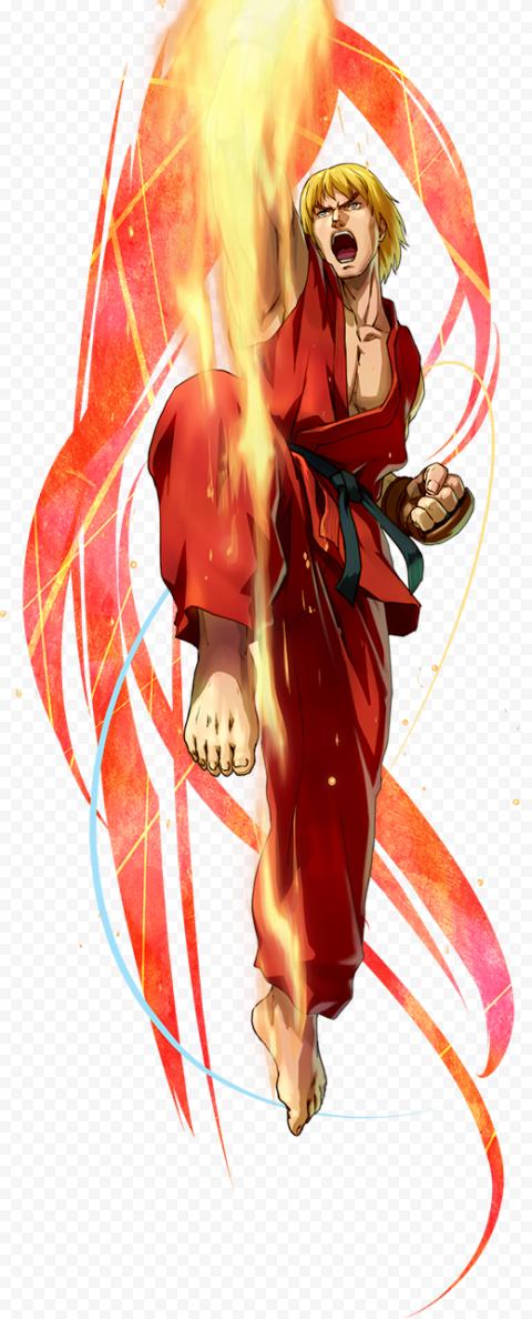 HD Ken Masters Street Fighter Hadouken PNG
