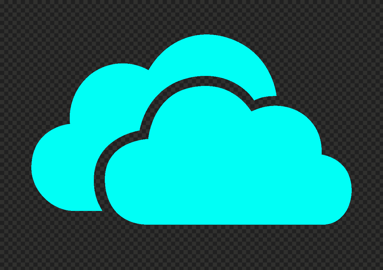 HD Light Blue Storage Host Clouds Icon PNG