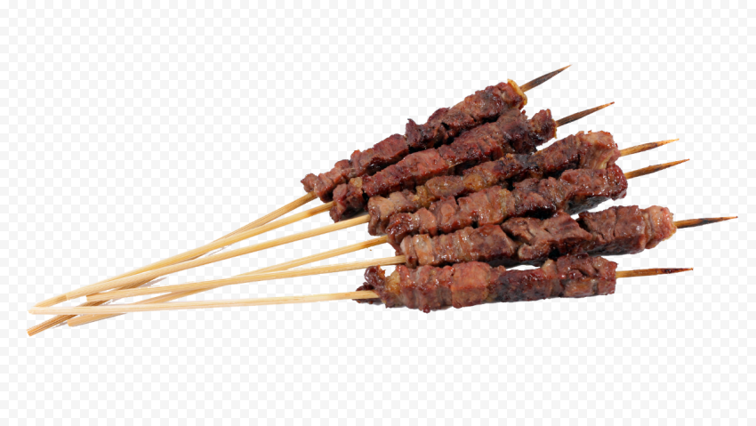 HD Liver Beef Meat Cooked Kebab Transparent PNG