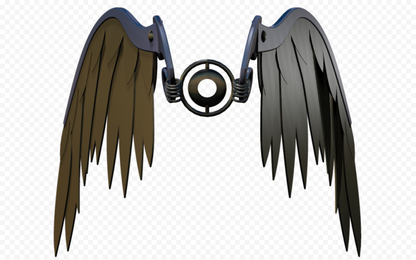 HD Mechanical Wings Front View PNG