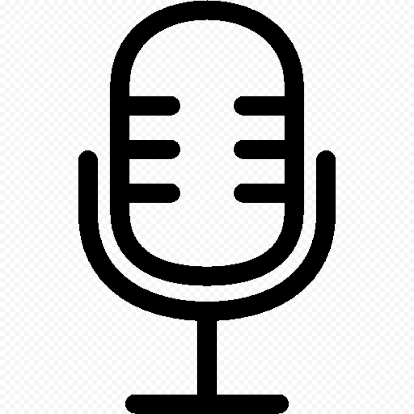 HD Microphone Studio Voice Mic Black Icon Transparent Background