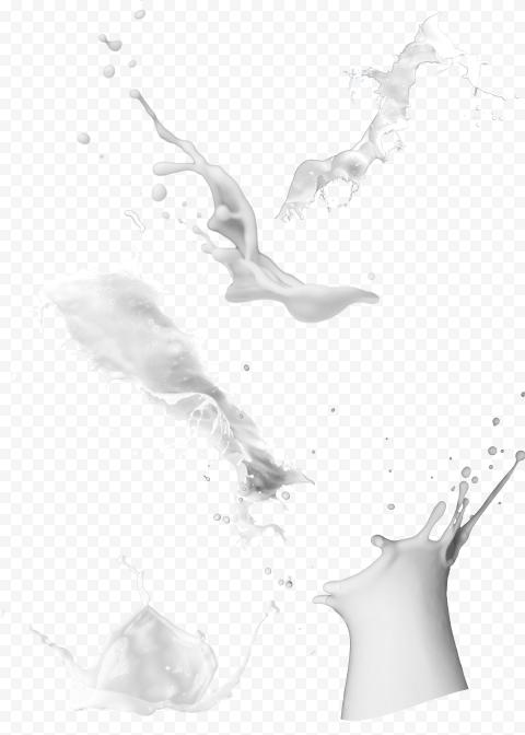 HD Milk Cream Yogurt  White Liquid Splash Transparent PNG