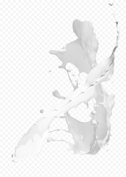 HD Milk Splatter White Liquid Splash PNG