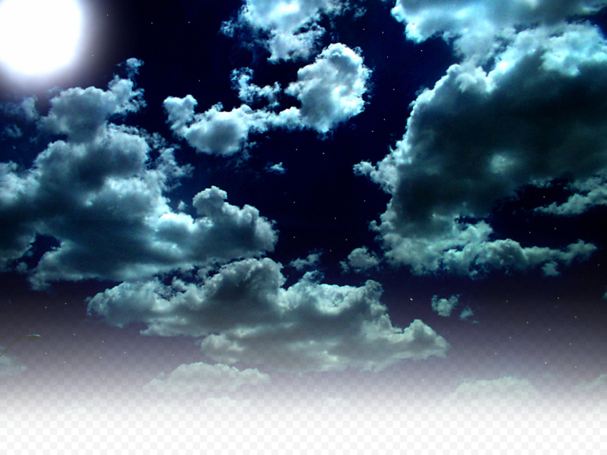 HD Night Clouds & Moon Background Transparent Background