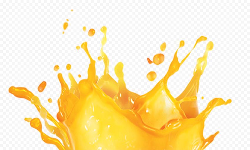 HD Orange Juice Liquid Splash PNG