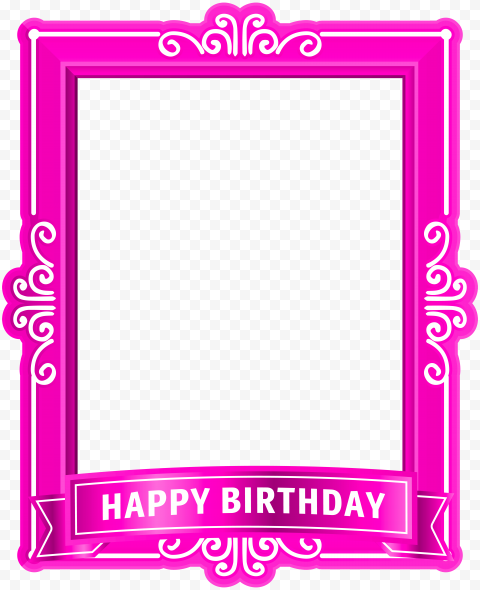 HD Pink Happy Birthday Poster Frame PNG