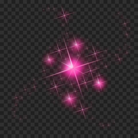 HD Pink Sparkle Effect Stars PNG