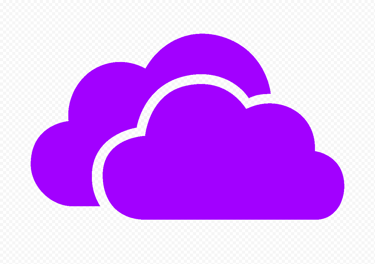 HD Purple Storage Host Clouds Icon PNG
