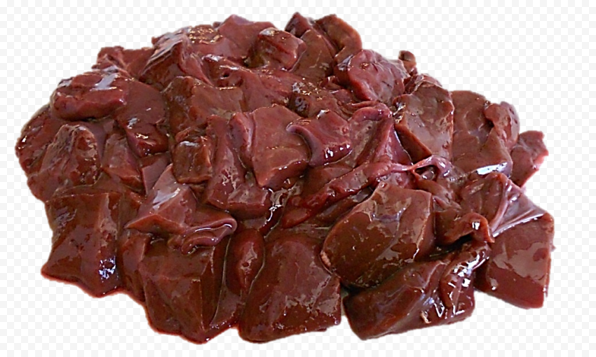 HD Raw Pieces Of Liver Meat PNG