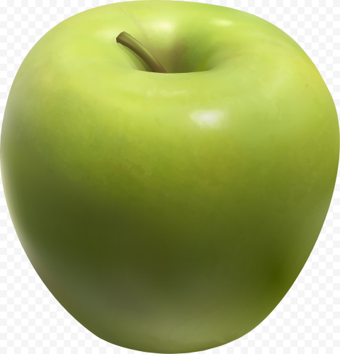 HD Real Green Apple Fruit PNG