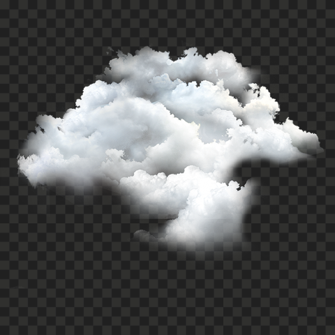 HD Real White Sky Clouds Transparent Background