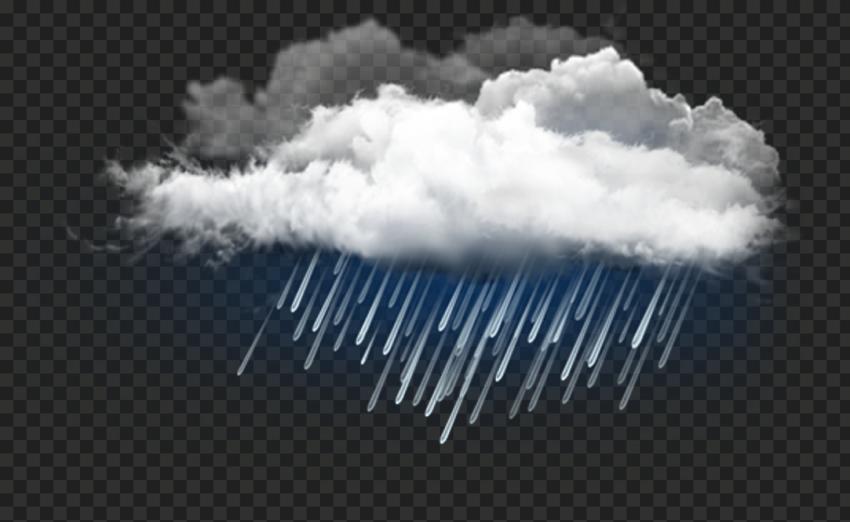 HD Realistic White Rain Cloud Rainy Day PNG