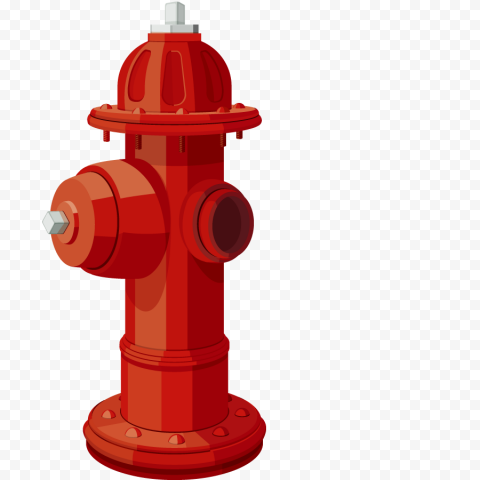 HD Red Fire Hydrant Vector Illustration PNG