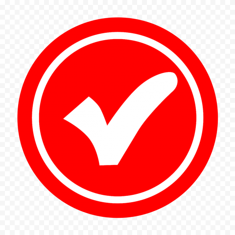 HD Red Round Tick Check Mark Symbol Logo Icon Transparent PNG