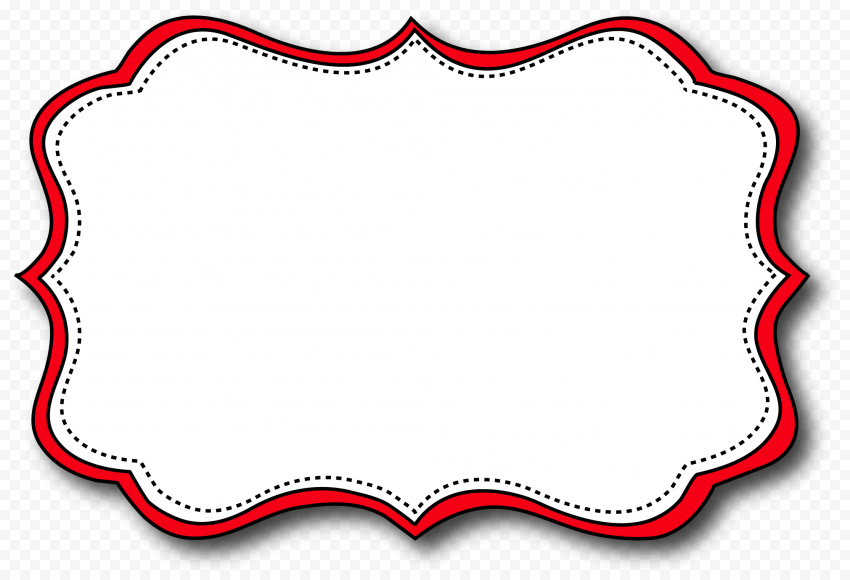 HD Red & White Decorative Banner Label PNG
