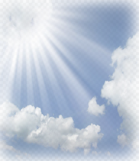 HD Sky Sunlight Clouds Background PNG