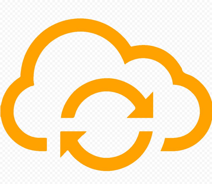 HD Storage Cloud Hosting Computing Orange Icon Transparent PNG