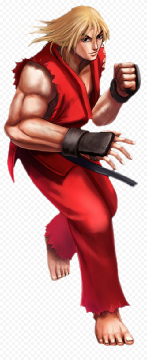 HD Street Fighter Ken Masters Character PNG