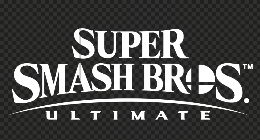 HD Super Smash Bros Ultimate White Logo PNG