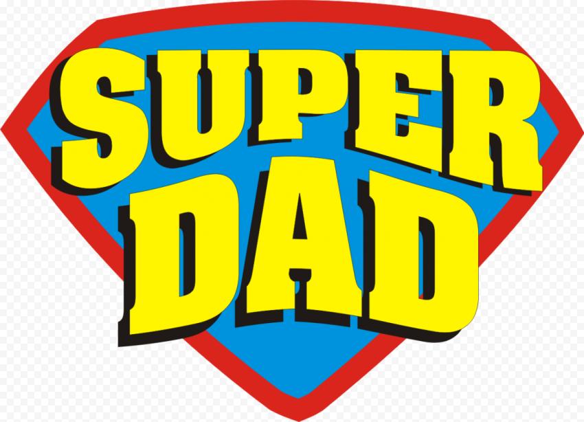 HD Superman Super Dad Logo Hero PNG