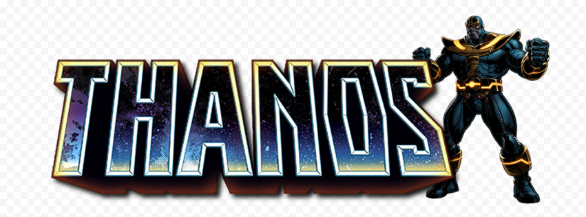 HD Thanos Character With Logo PNG