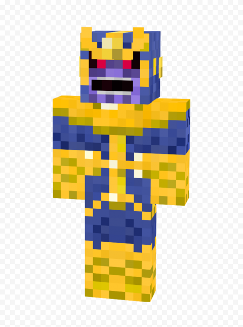 HD Thanos Minecraft Character Transparent PNG