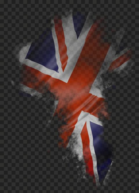 HD UK United Kingdom Flag Smoke PNG