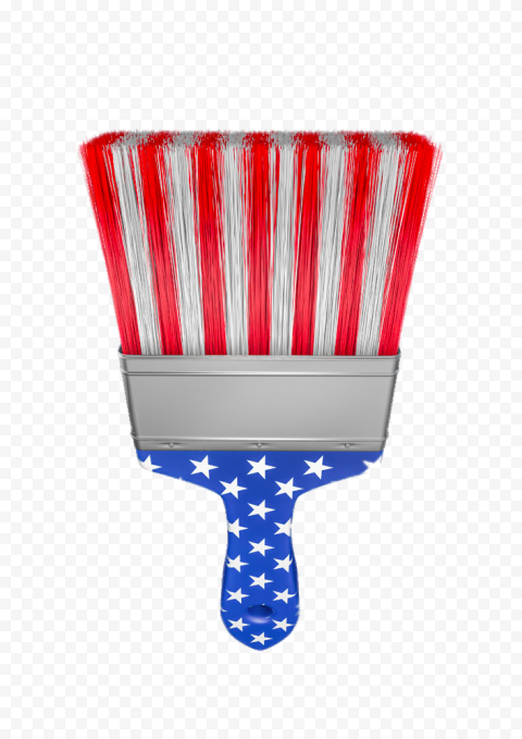 HD US American United States Flag On Brush Paint PNG