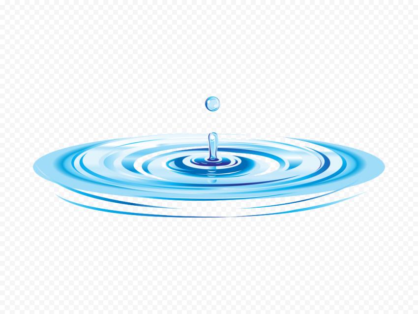 HD Water Drop Ripple Illustration Cartoon PNG