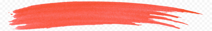 HD Watercolor Red Brush Line PNG
