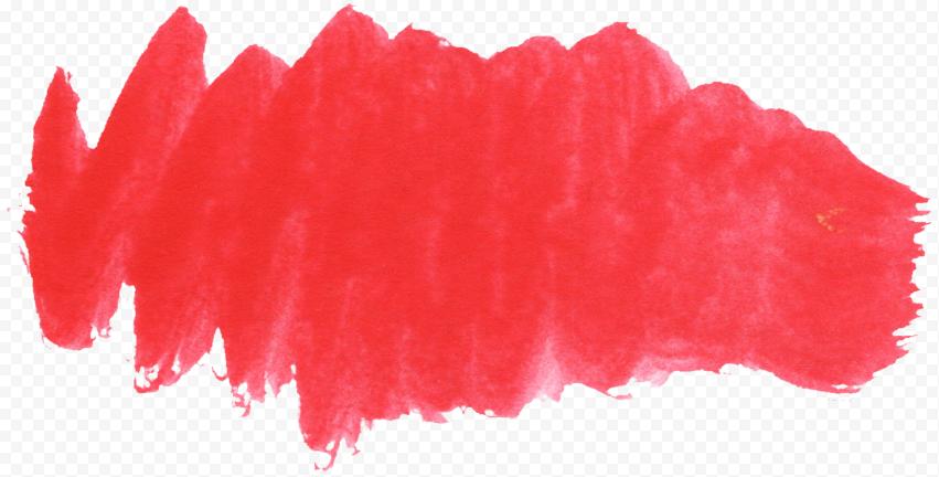HD Watercolor Red Brush Pastel PNG