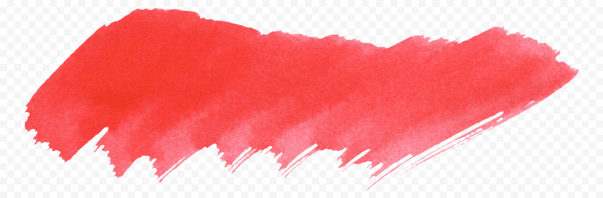 HD Watercolour Red Brush Stroke PNG