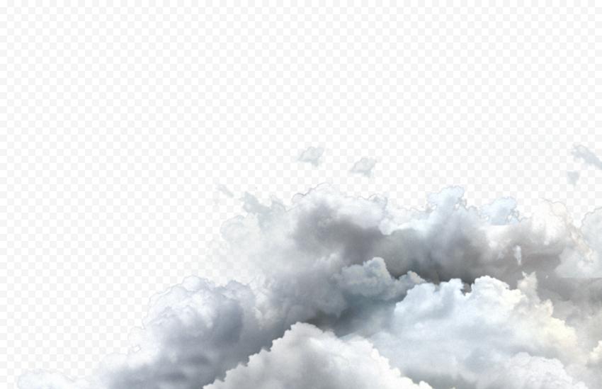 HD White Corner Clouds PNG
