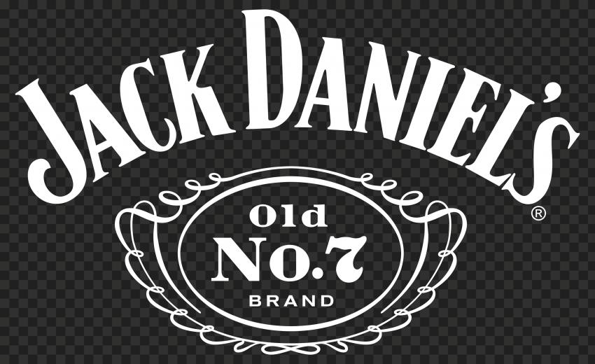 HD White Jack Daniel's No 7 Logo PNG