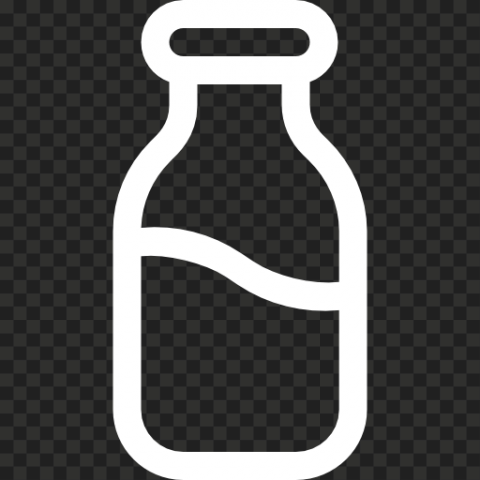 HD White Milk Water Bottle Icon PNG