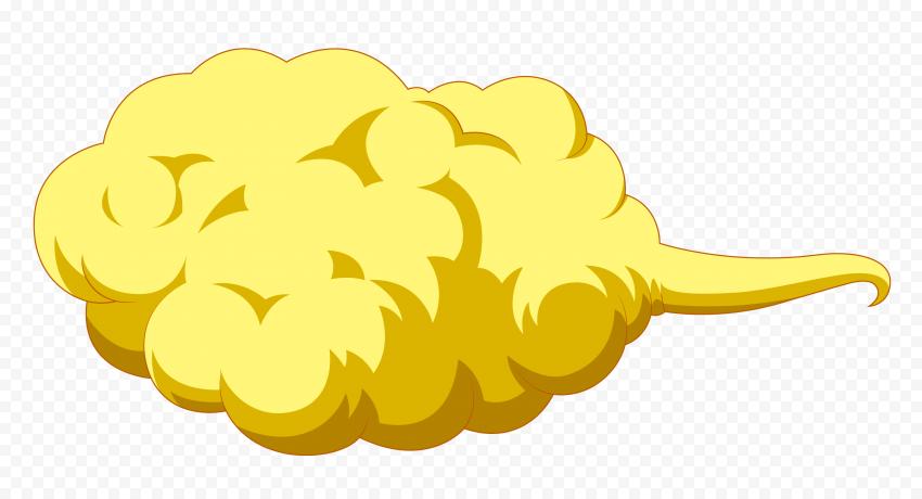 HD Yellow Dragon Ball Z Goku Cloud PNG