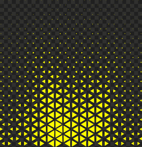 HD Yellow Halftone Triangle Dots Abstract Pattern PNG