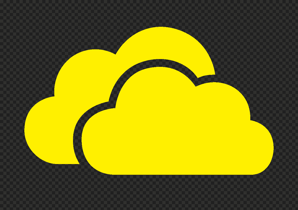 HD Yellow Storage Host Clouds Icon PNG