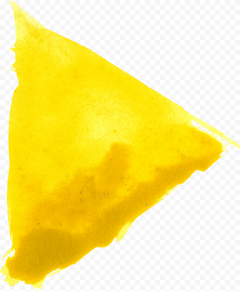 HD Yellow Watercolor Triangle PNG