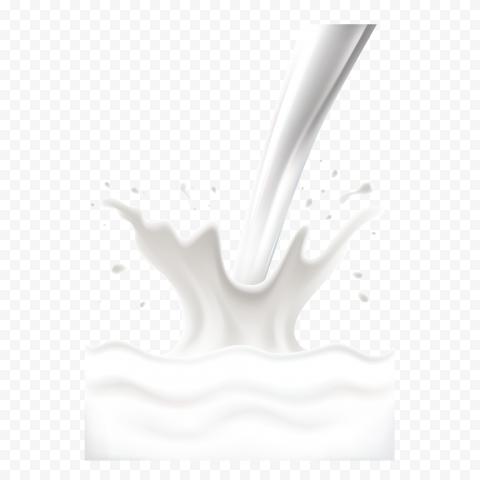 HD Yogurt Milk Splash Transparent PNG