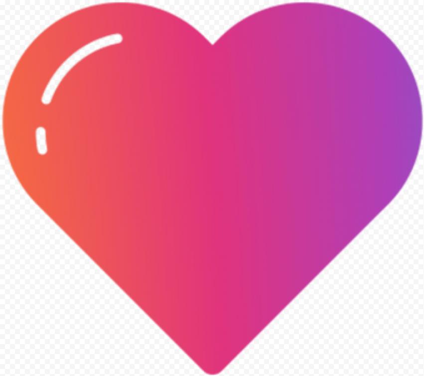 Heart Instagram Colors Gradient