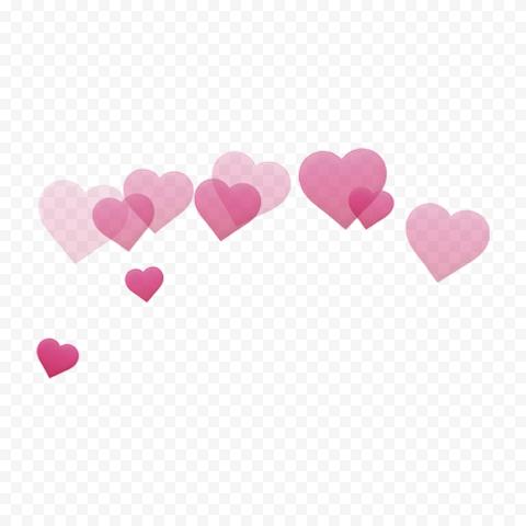 Hearts Pink Floating Falling Love Wallpaper
