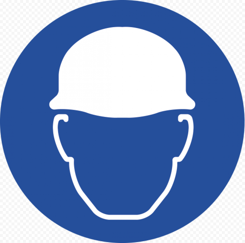 Helmet Protection PPE Safety Risk Sign
