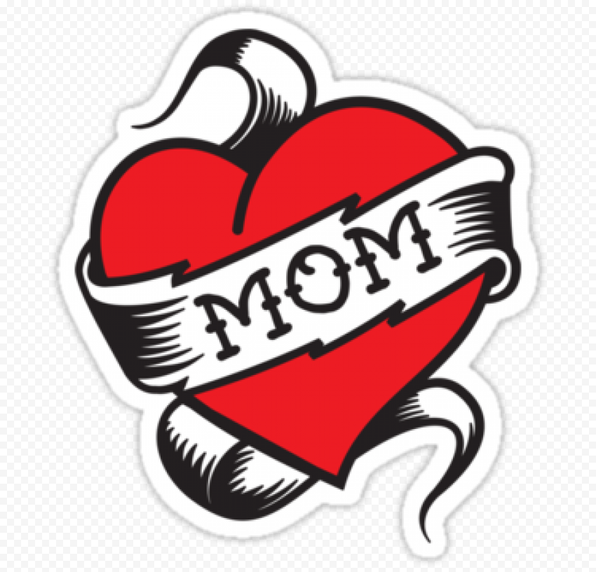 I Love Mom Red Heart Tattoo stickers