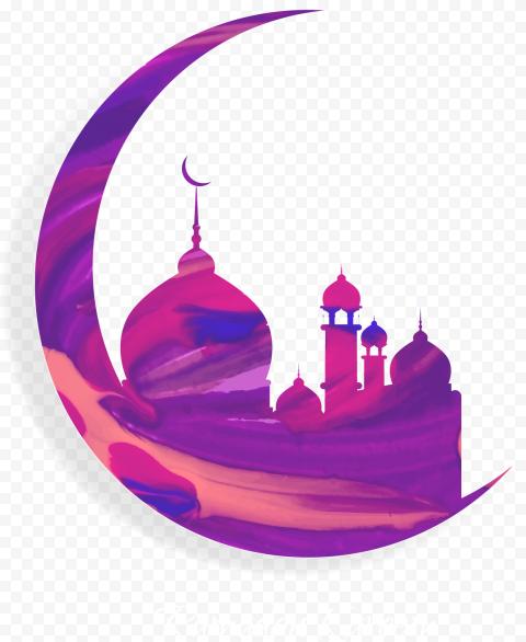 Illustration Ramadan Kareem Mosque Moon