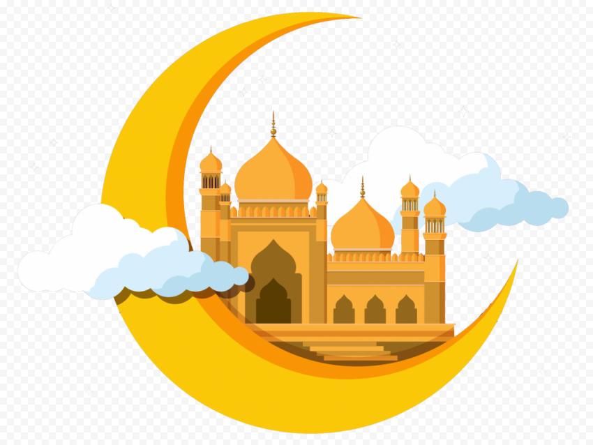 Illustration Ramadan Mosque Moon Icon