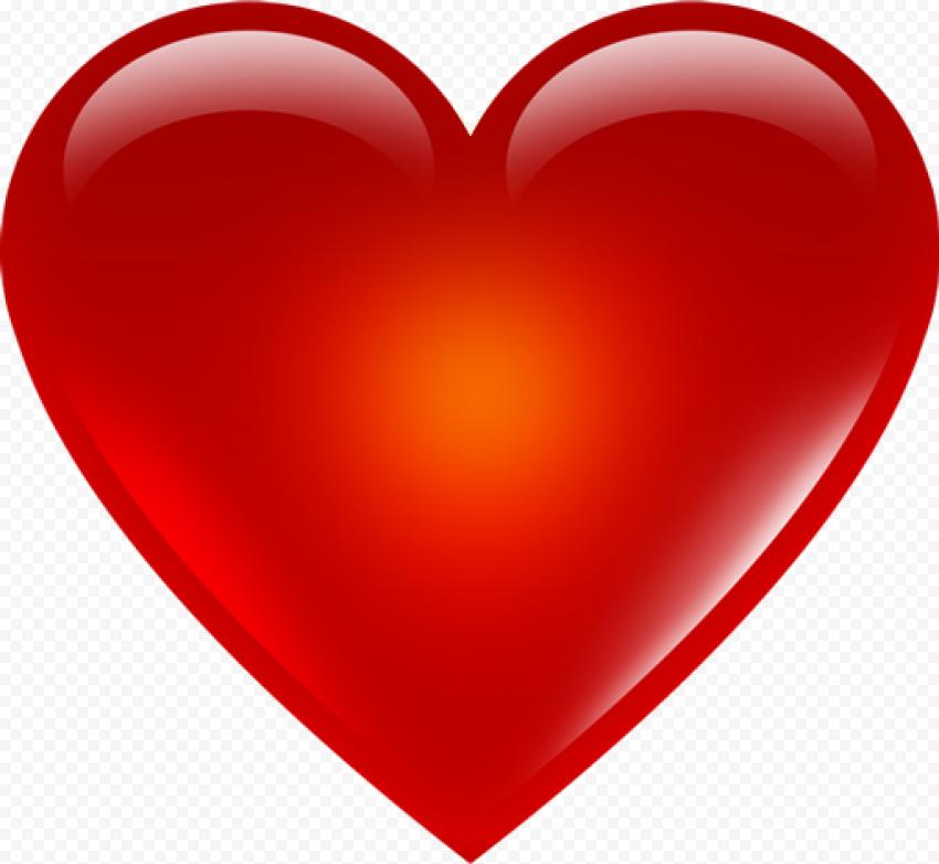 Illustration Red Heart 3D Effect