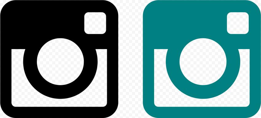Instagram Square Logo Teal Black
