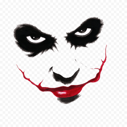 Joker Face Silhouette Black and Red